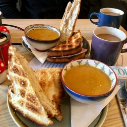 Did I mention it was cold?! Lunch refuel of steaming butternut squash soup and cheese toasties at Little Chamonix Cafè. I still dream about the melted Gruyère cheese!