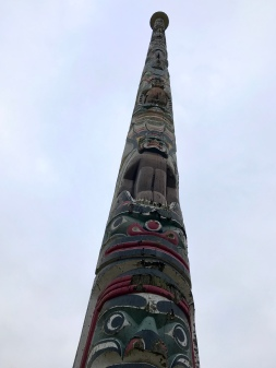The Canadian-made totem pole