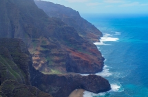 Na Pali coastline from the air