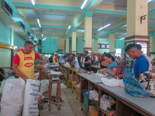 Inside the produce market