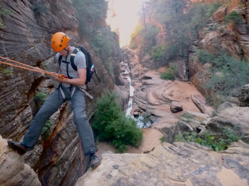 Canyoneering trip to Red Canyon with Zion Mountain School