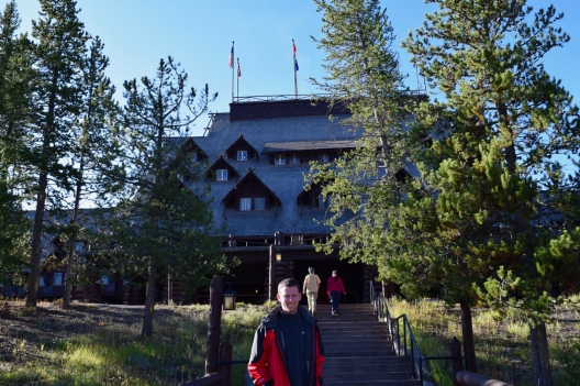 Tours are available of the grand Old Faithful Inn, built in 1903
